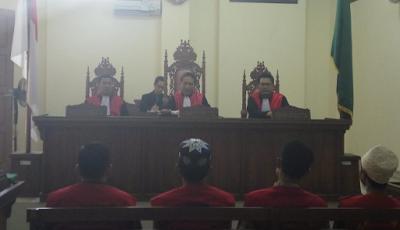 Empat Terpidana Lapas Rajabasa Jalani Sidang Money Politics Pilgub Lampung 2018
