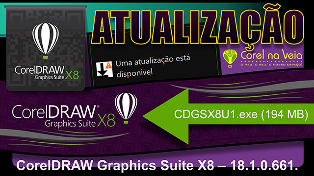Suite de Aplicativo Gráfico CorelDRAW Atualização 1