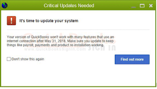 Fix QuickBooks Critical Update 2018
