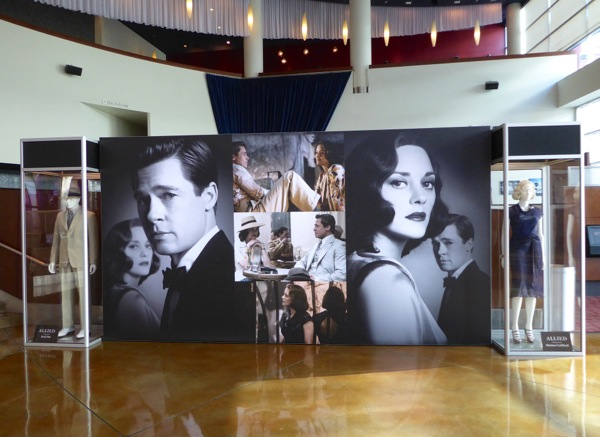 Allied movie costume exhibit ArcLight Hollywood