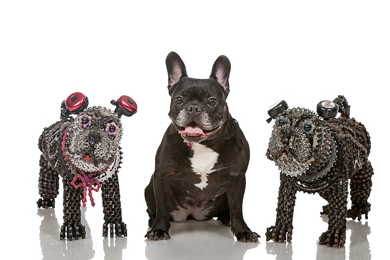 03-Bully-Nirit-Levav-Recycled-Bicycle-Parts-used-for-Unchained-Dog-Sculptures-www-designstack-co