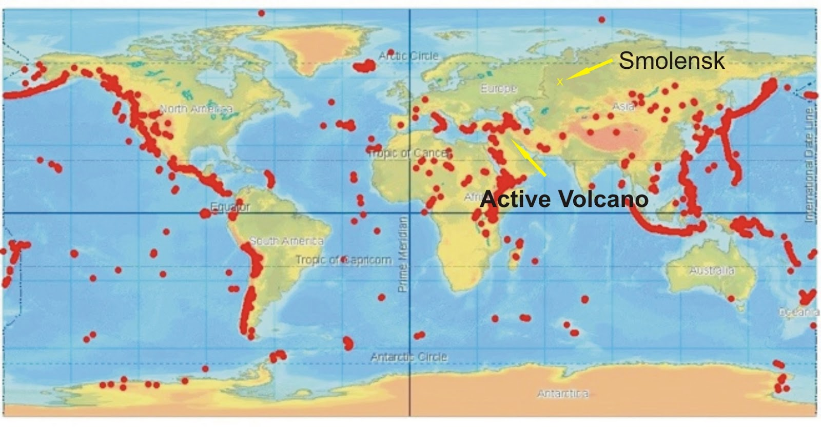 Map of active volcano gumiabroncs Gallery