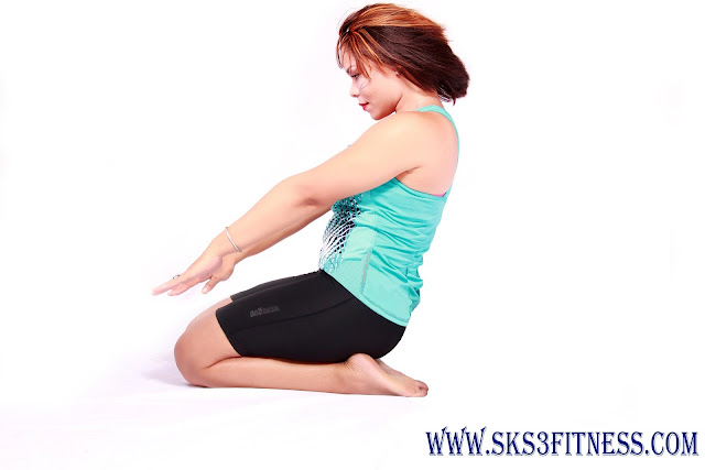 A girl doing Meditation in Vajrasana / Diamond Pose