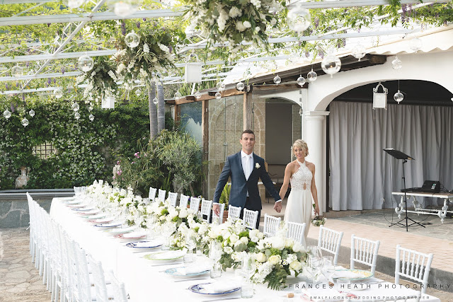 Wedding decorations at Villa Oliviero