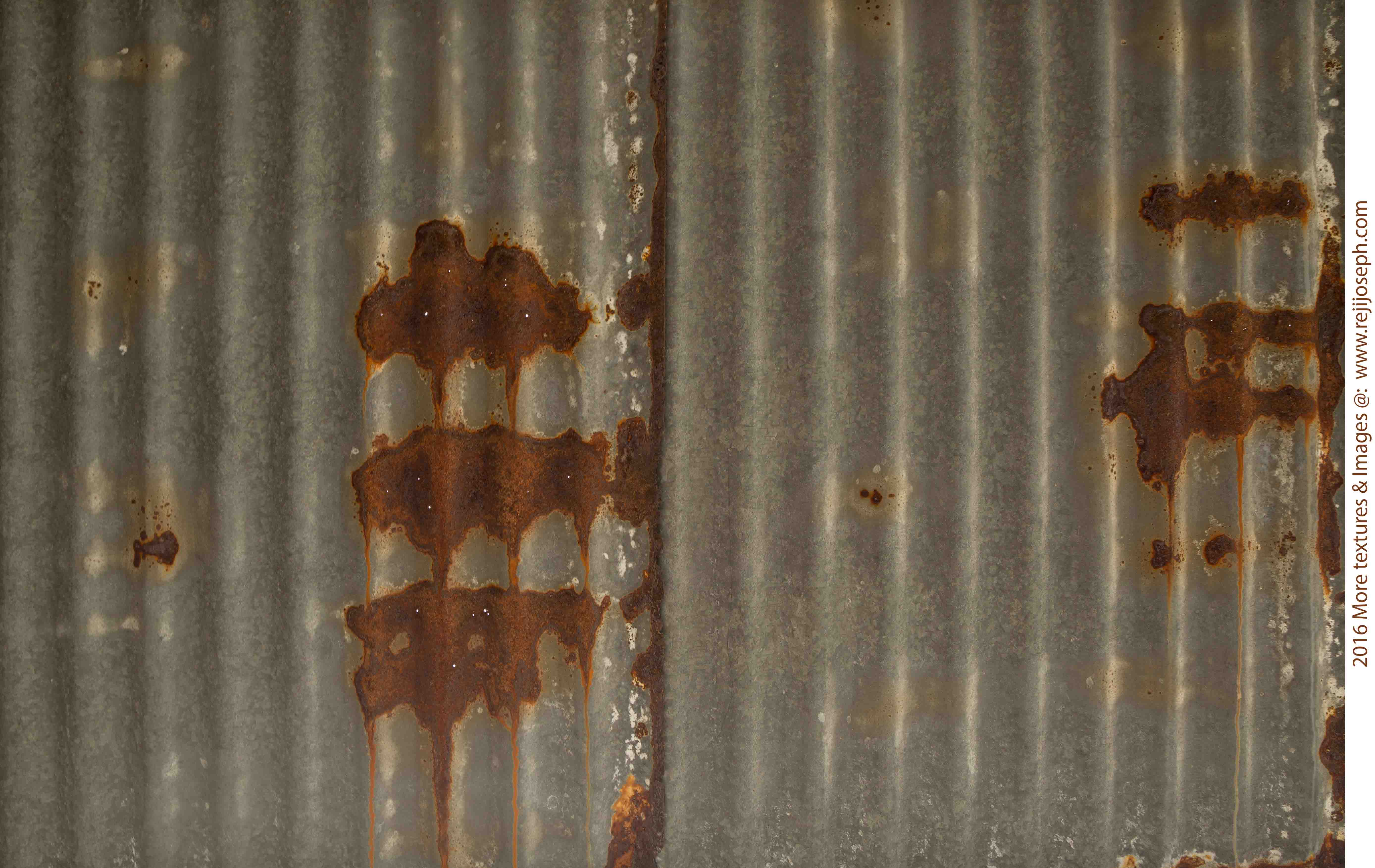 Rusty metal roof sheet texture 00002