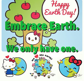 Hello kitty embrace earth we only have one