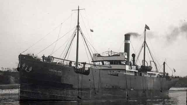British freighter SS Greenland, sunk by a mine on 6 December 1941 worldwartwo.filminspector.com