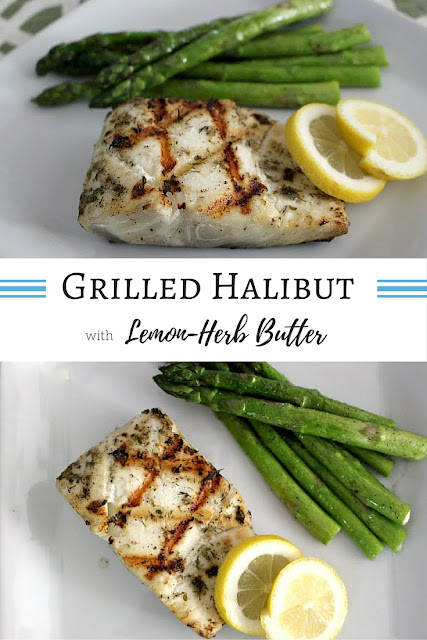Grilled Halibut with Lemon-Herb Butter