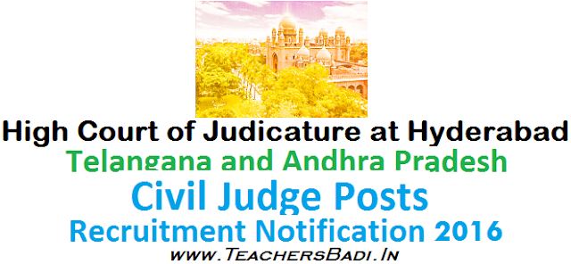 TS AP High Court,Junior Civil Judge Posts,Recruitment Notification