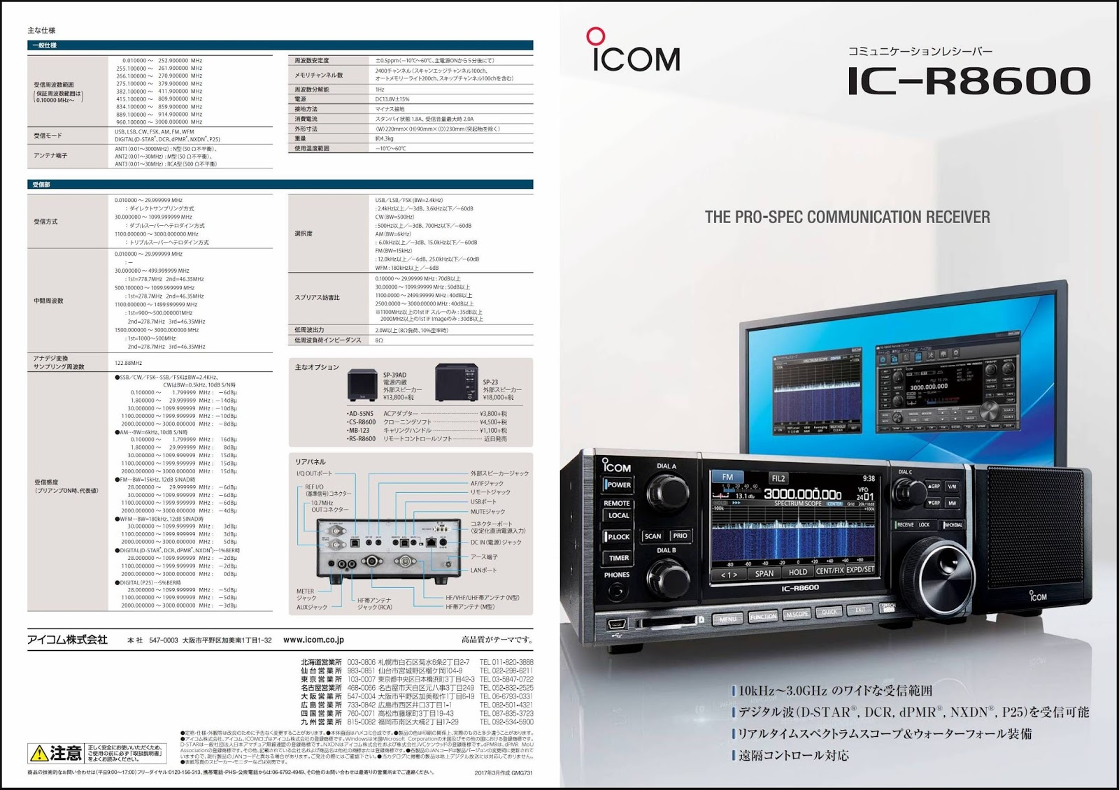 Icom Communication Receiver IC-R8600 on