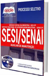 Apostila SESI SENAI SP 2017 - Auxiliar de Manutenção