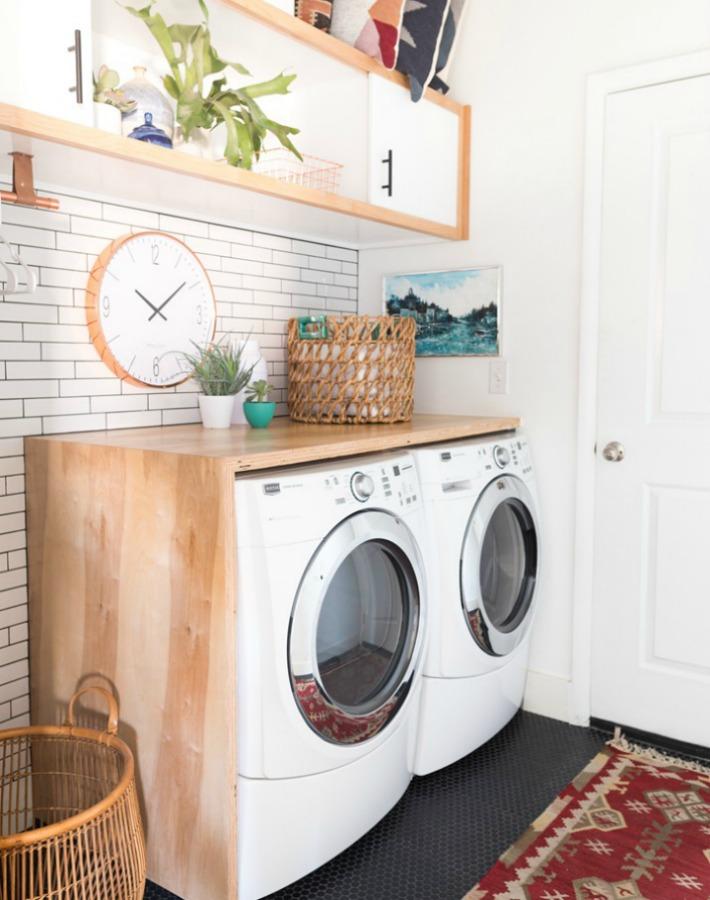 Decoraci n f cil paso a paso para crear un cuarto de - Cuarto lavadero pequeno ...