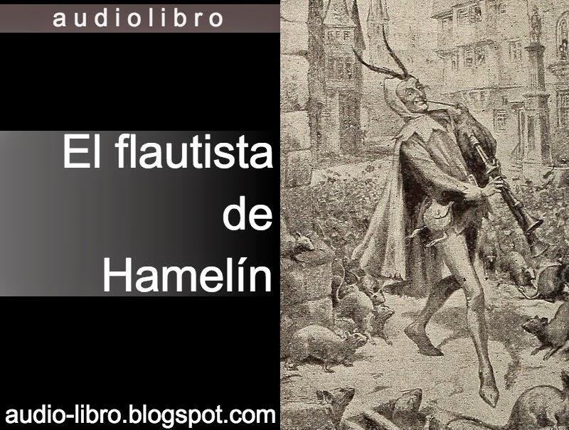 Portada del post con el audiolibro el flautista de Hamelín