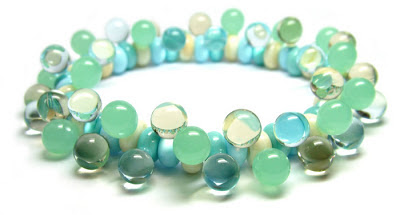 Lampwork bead stretch bracelet