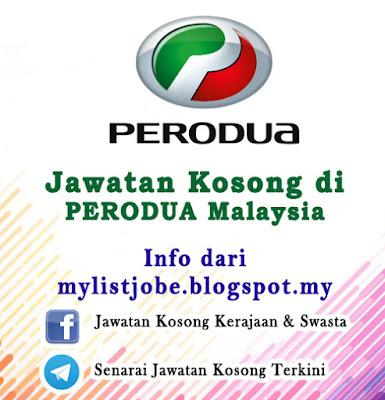 Jawatan Kosong di PERODUA Malaysia
