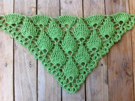 Crochet shawl designs - Embossed sheets