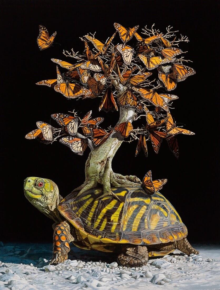 06-Migration-Lisa-Ericson-Animals-Interspecies-Friendships-Paintings-www-designstack-co