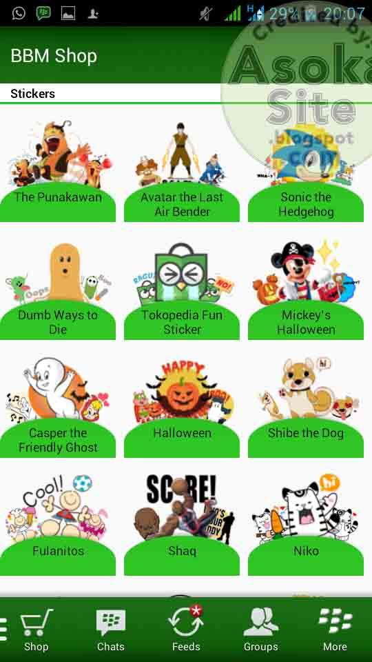 Download  Stiker Gratis Semua Versi BBM Android Terbaru ScreenShot by http://jembercyber.blogspot.com