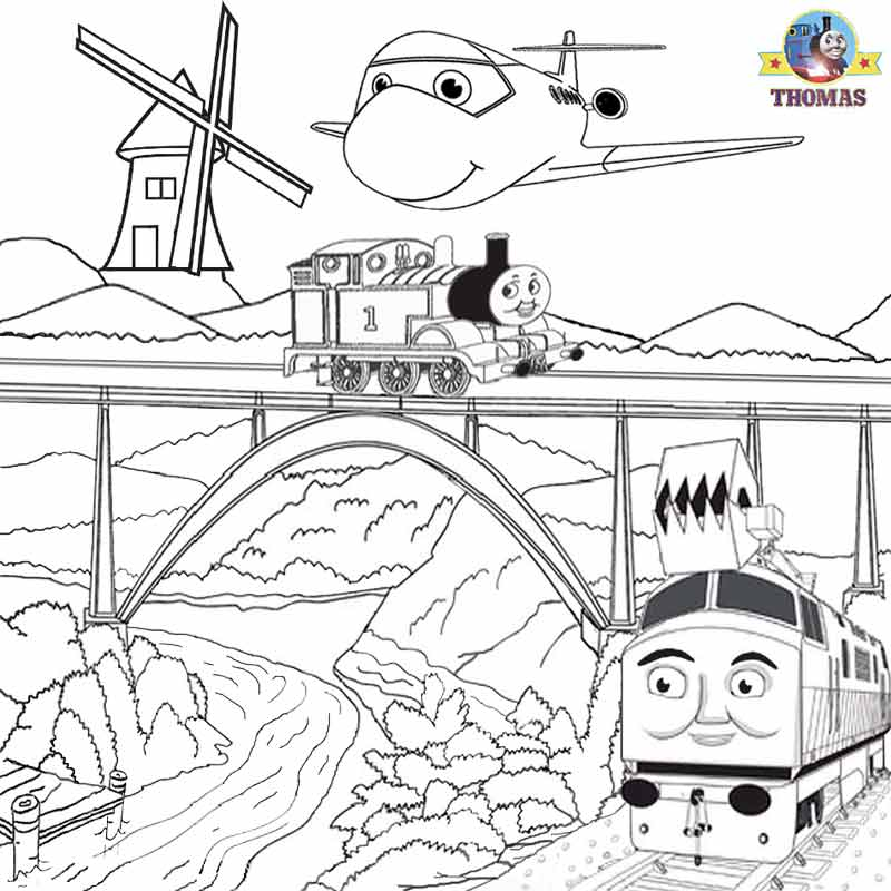 Thomas coloring pictures pages to print and color kids for Printable thomas the train coloring pages