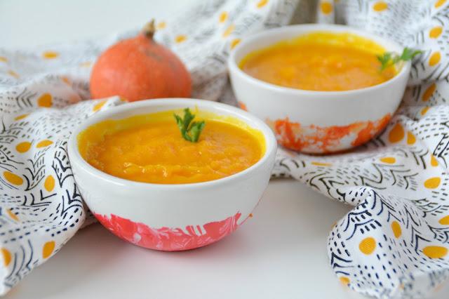 Ma soupe qui booste pour Anne Delona: Potimarron, Carotte, Orange, Gingembre