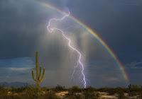 Rainbow and Lightning over Arizona