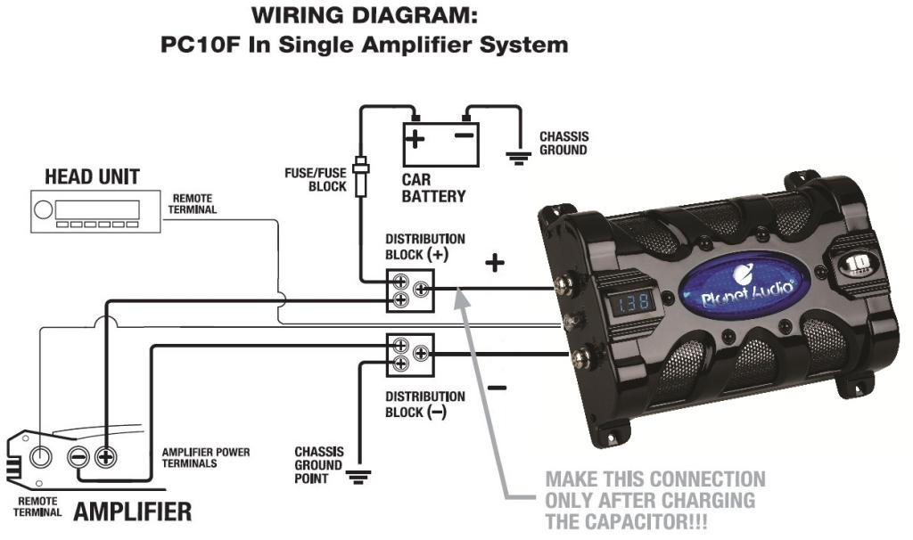 How do you hook up a car capacitor