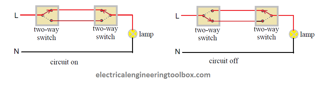 How to Wire a Two-Way Switch ~ Learning Electrical Engineering