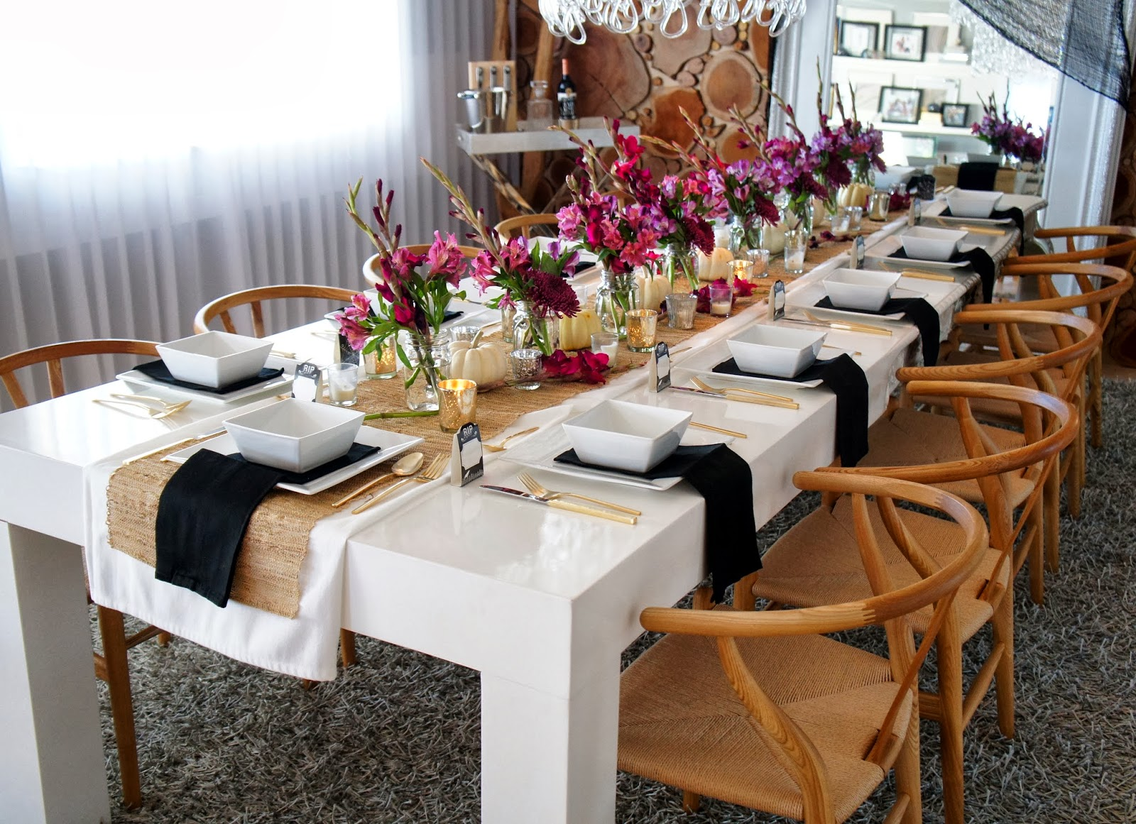 Table Decorating Ideas For Dinner Parties Fall Dinner Party Decor