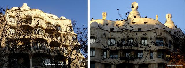 Fachada de La Pedrera, obra de Gaudi