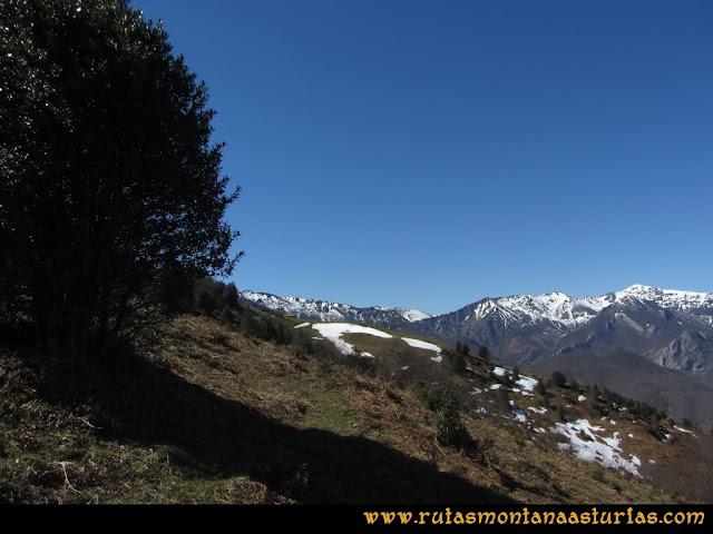 Ruta Belerda-Visu La Grande: Sendero entre la Collaína y la majada La Gallera