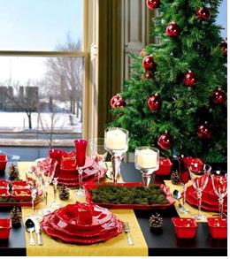decoraciones navideñas para el comedor, como adornar el área del comedor en navidad