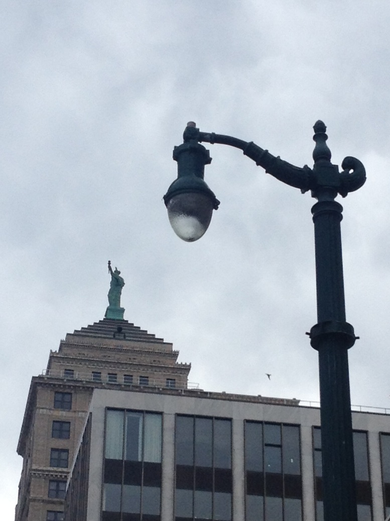 Twin Statue of Liberties atop Buildings, Buffalo, NY | 180 OUT