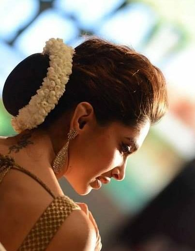 Indian Dresses Deepika Padukone Hair Bun