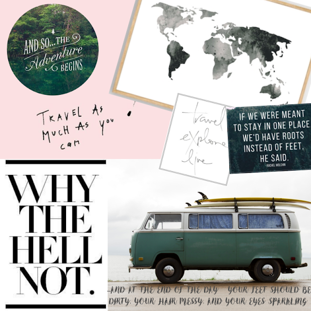 summer travels collage