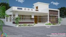 3 Bedroom Flat Roof Modern Floor Kerala Home