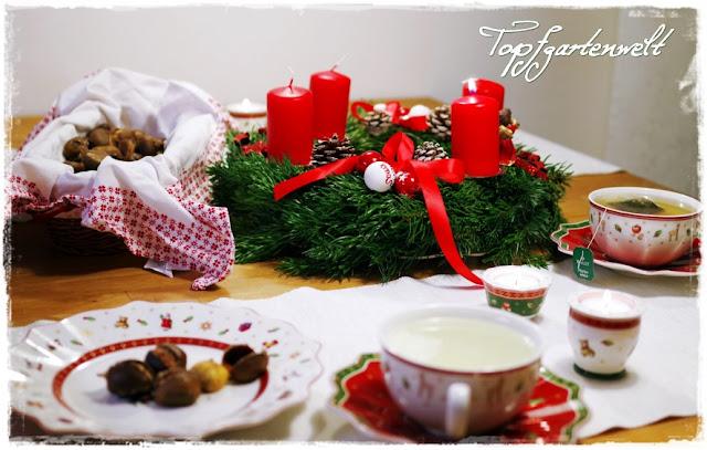 Gartenblog Topfgartenwelt Winter: Villeroy-Boch Weihnachtsgeschirr und Maroni