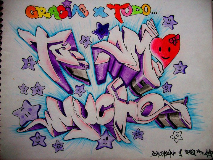 Imagenes De Graffiti De Te Amo