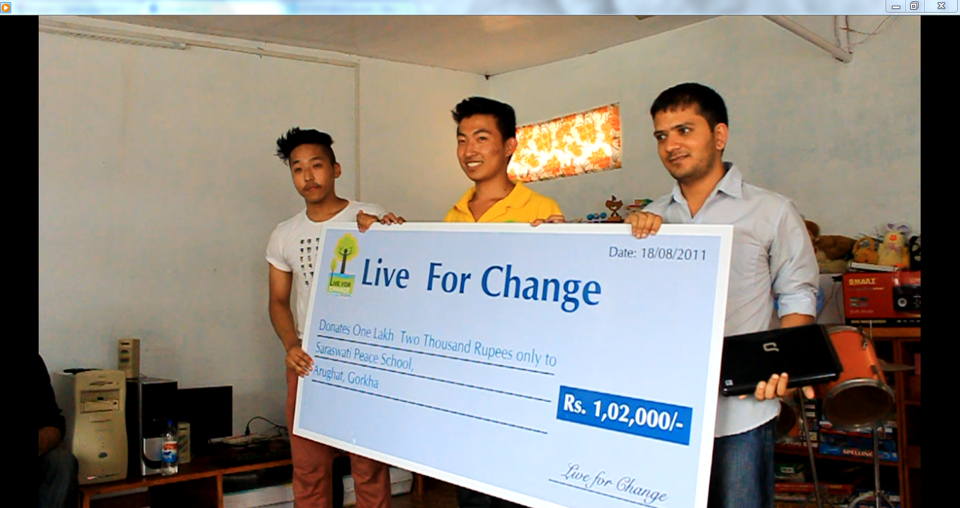 Live For Change Donates Nrs 1,02,000 | Lexlimbu