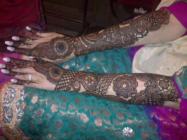 Indian Mehndi Designs For Full Hands