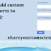 Add Blogger Contact Form in Contact Us page