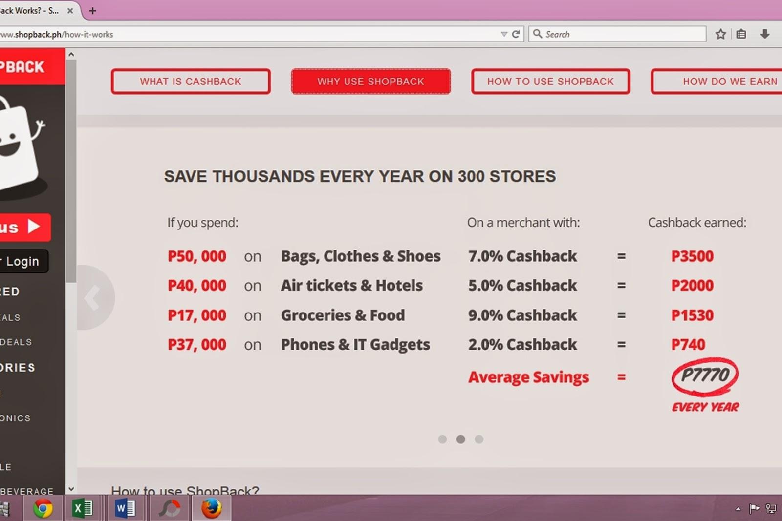 Cashback online shopping
