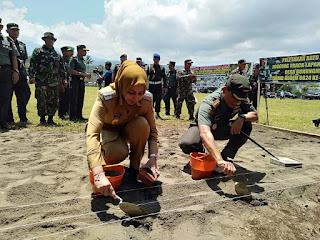 Bupati Jember Pimpin Upacara Pembukaan TMMD KE 104.
