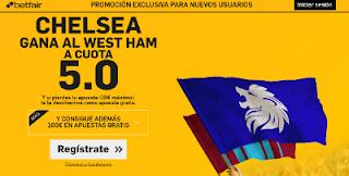 betfair Chelsea gana West Ham supercuota 5 Premier League 15 agosto