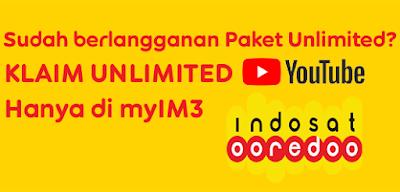 Cara Klaim Bonus Unlimited YouTube Paket Unlimited Indosat