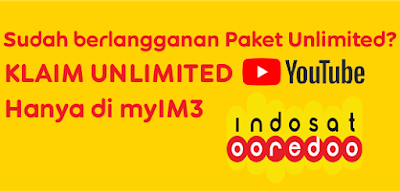 tips Klaim Bonus Unlimited YouTube Paket Unlimited Indosat