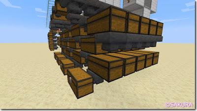 マインクラフト 水流式自動仕分け機(ロマン仕様) 倉庫部分