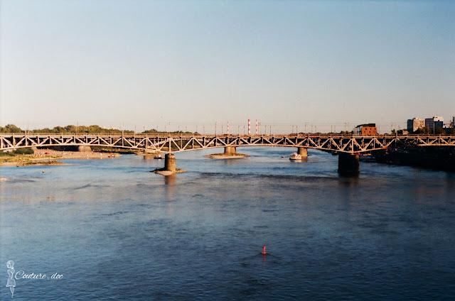 rzeka wisła, Warszawa, most średnicowy,