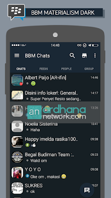 Preview BBM Materialism Dark V2.12.0.11