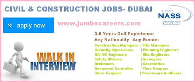 Civil Engg jobs for Gulf experienced