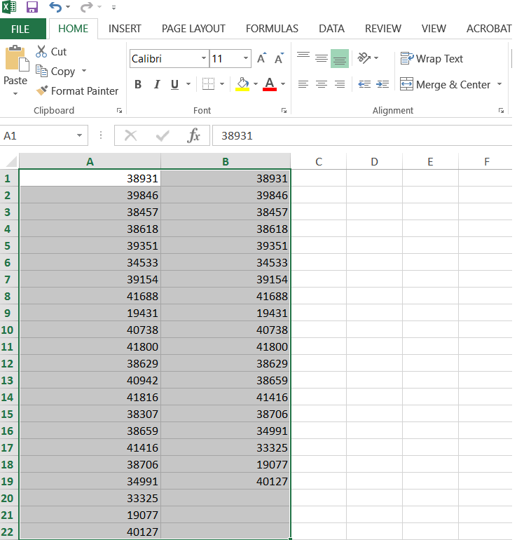 excel how to put 2 y values